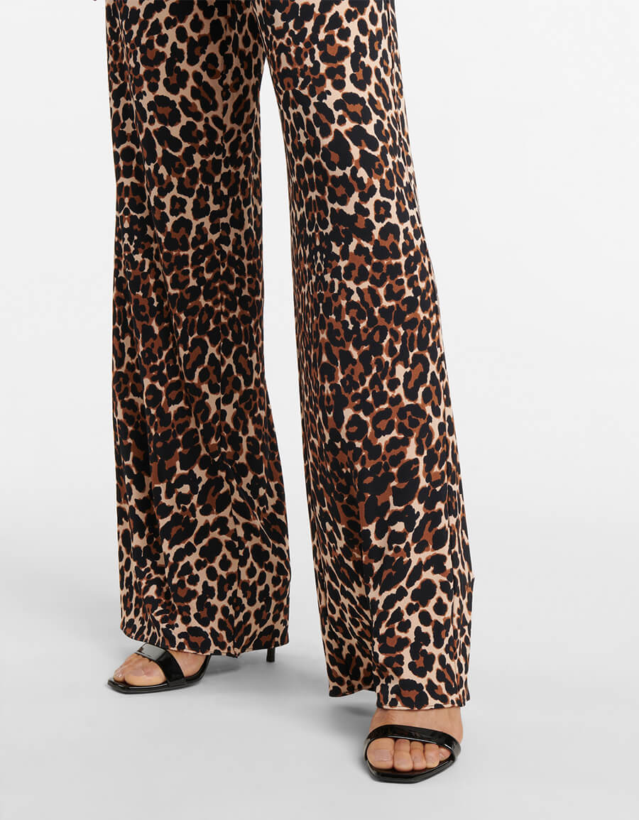 TOM FORD Leopard print wide leg pants