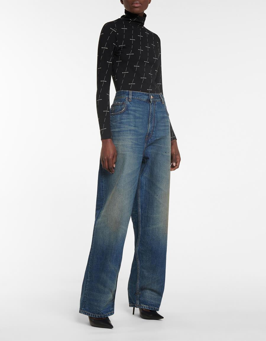 BALENCIAGA High rise straight jeans