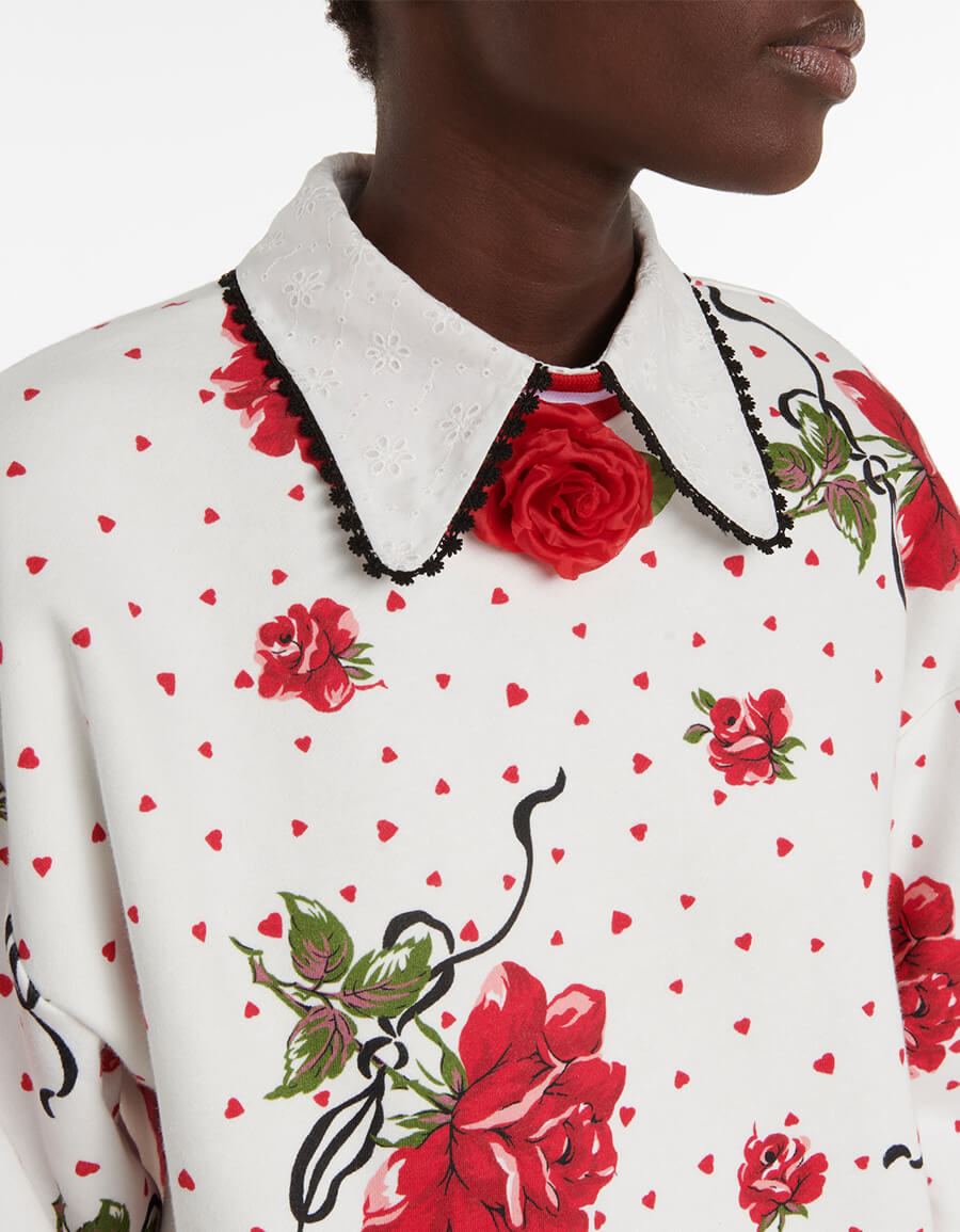 RODARTE Floral cotton blend sweatshirt