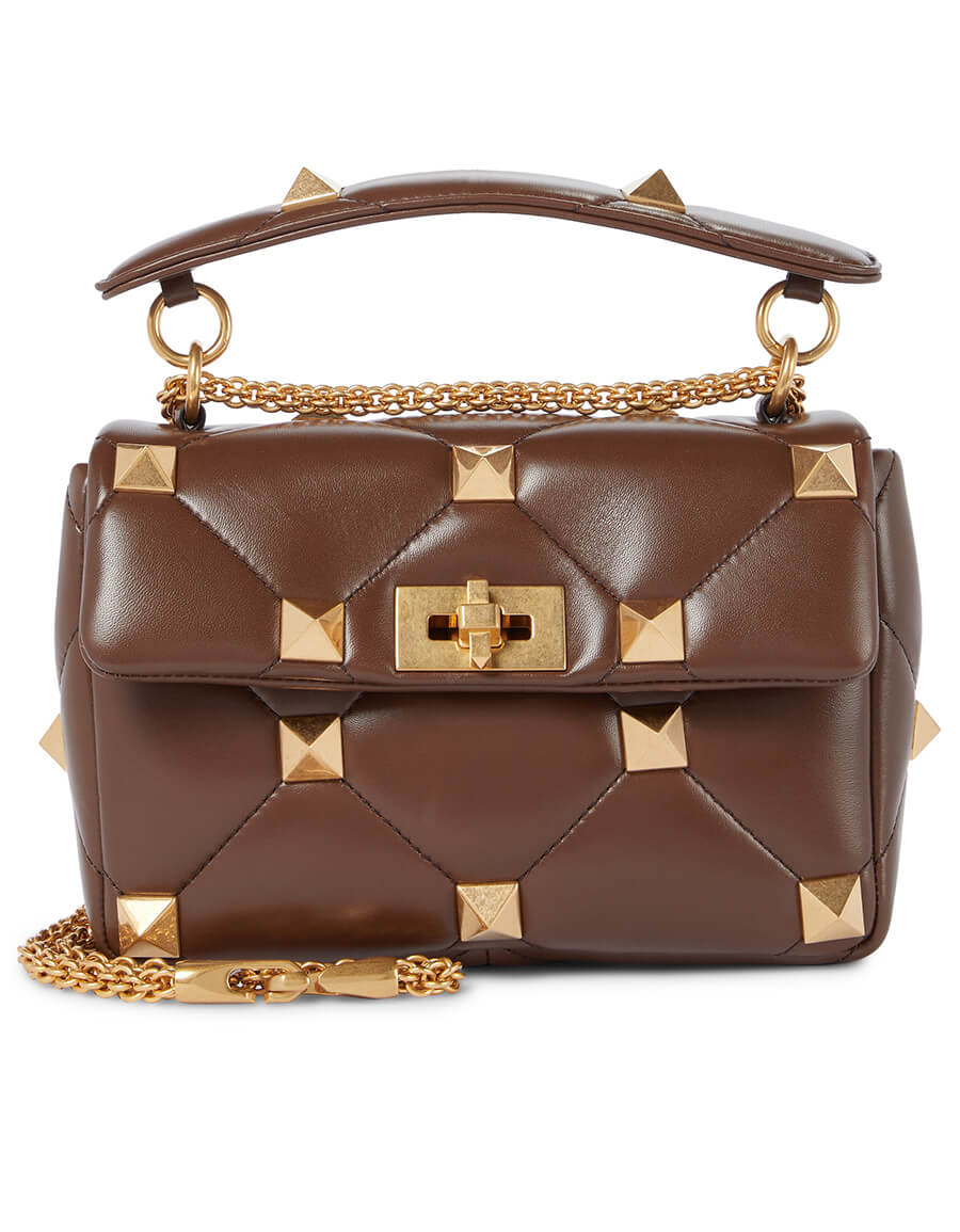 VALENTINO GARAVANI Valentino Garavani Roman Stud Medium leather shoulder bag