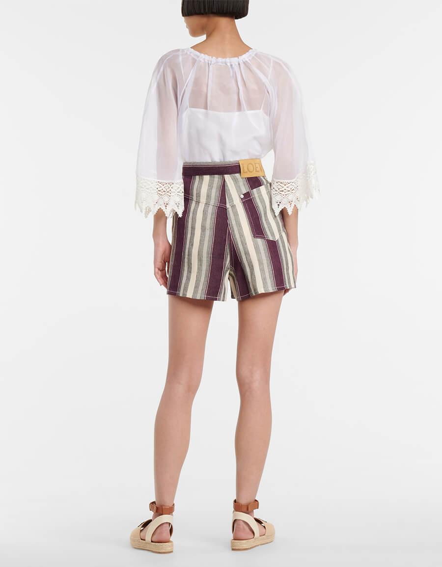 LOEWE Paula's Ibiza high rise striped shorts