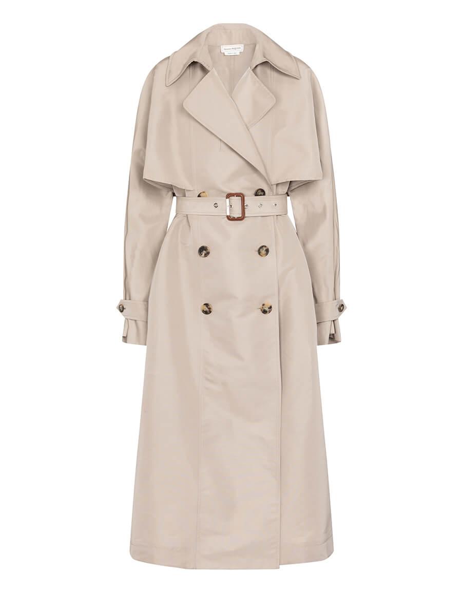 ALEXANDER MCQUEEN Oversized trench coat