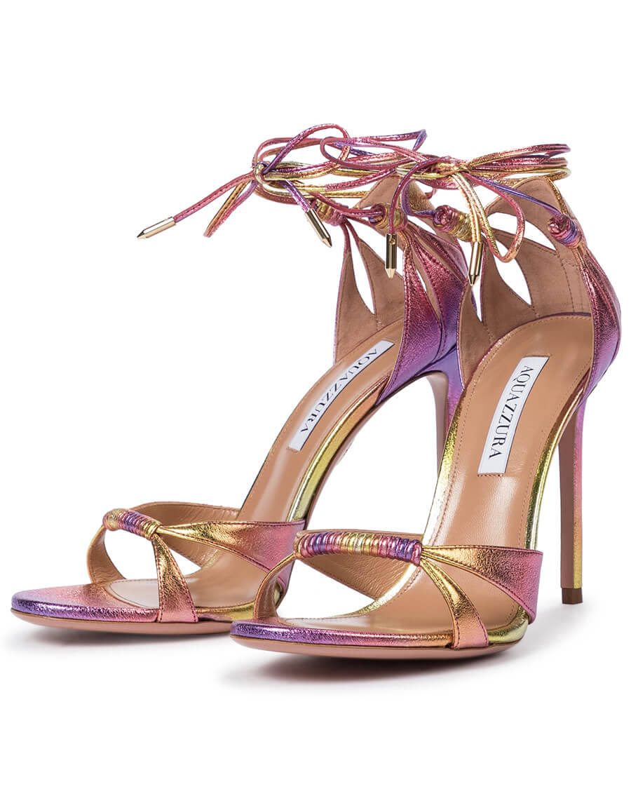 AQUAZZURA Sole 105 leather sandals