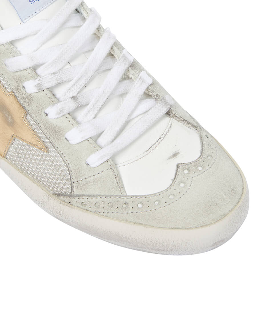 GOLDEN GOOSE Mid Star suede trimmed leather sneakers