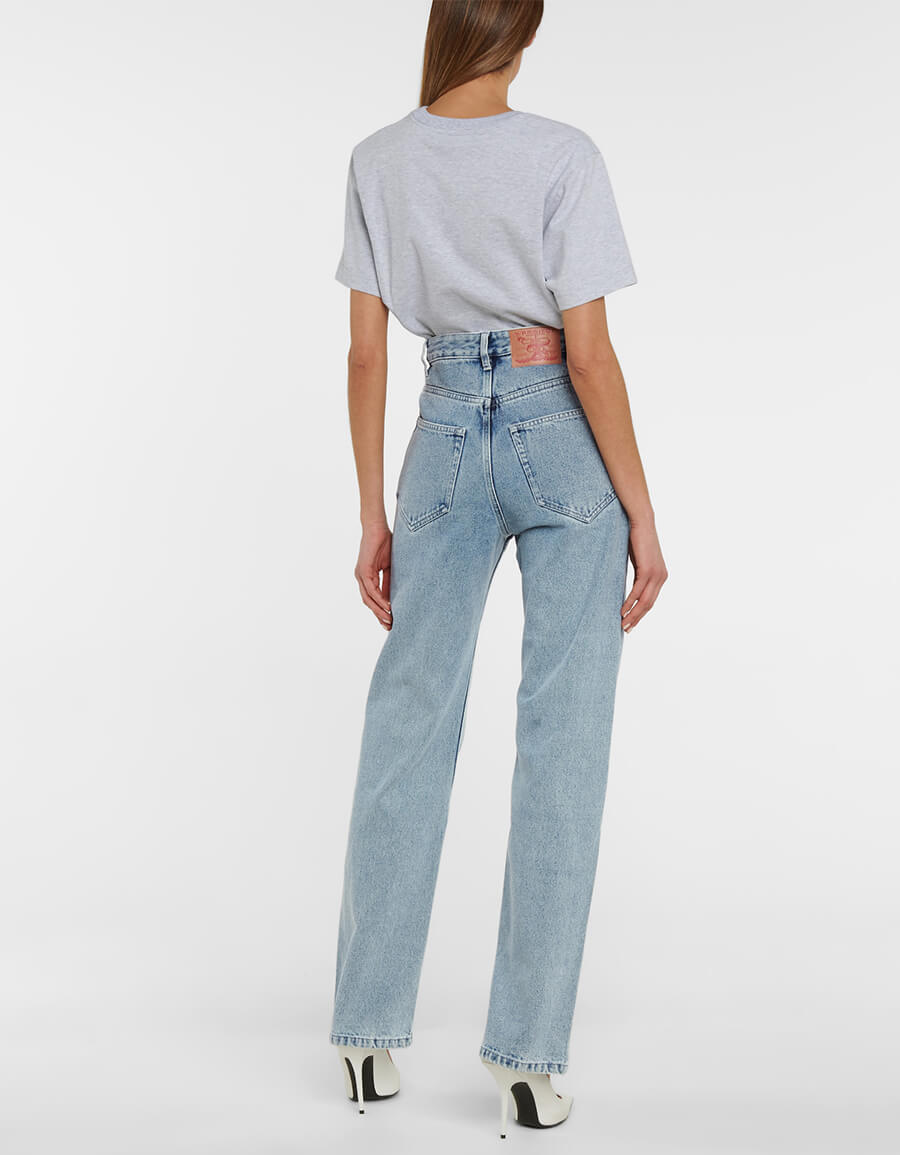 Y/PROJECT Cutout high rise straight jeans