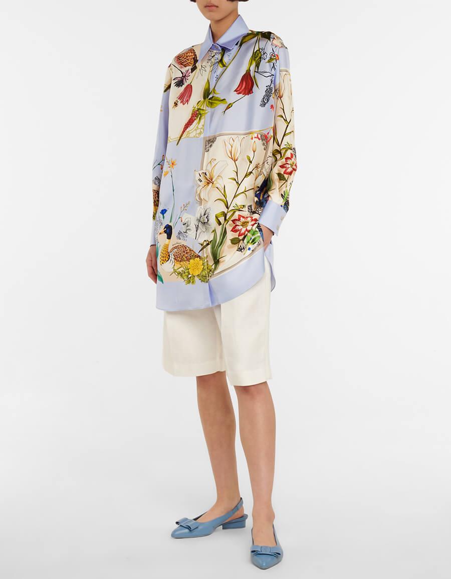 SALVATORE FERRAGAMO Floral silk twill shirt dress