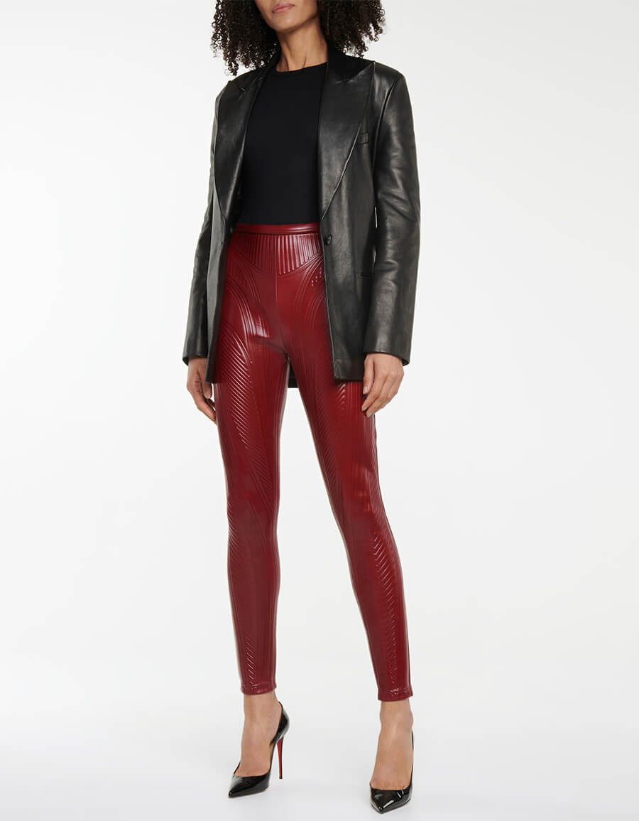 MUGLER Embossed leggings