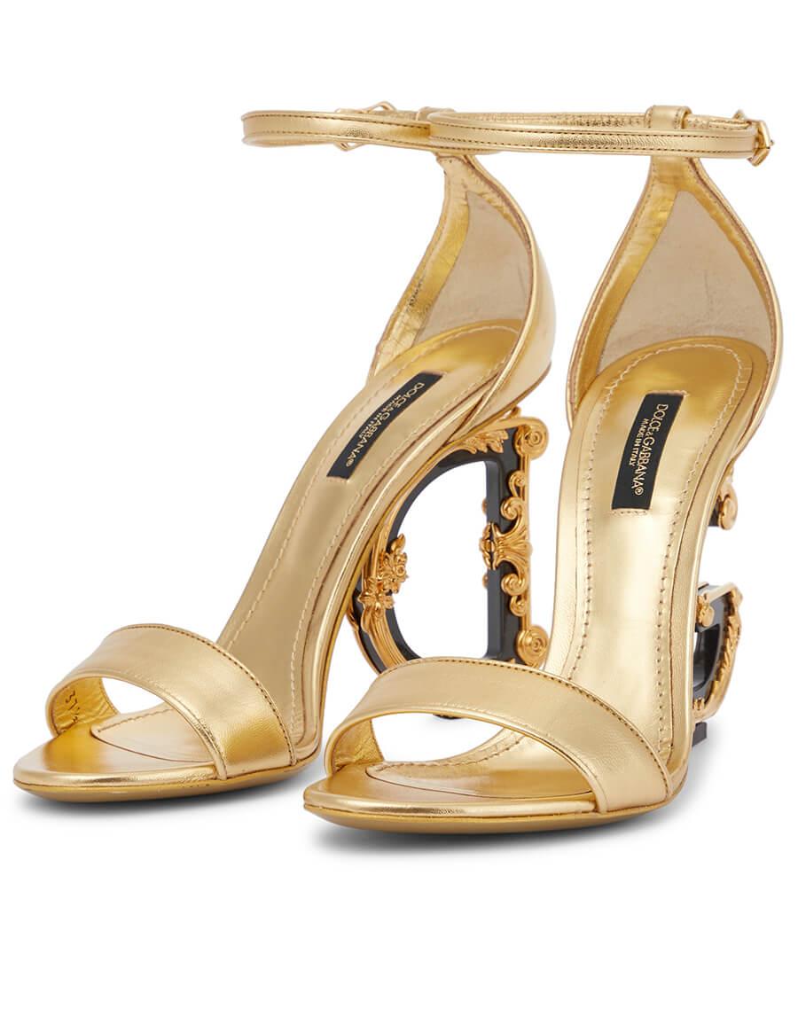 DOLCE & GABBANA Keira metallic leather sandals