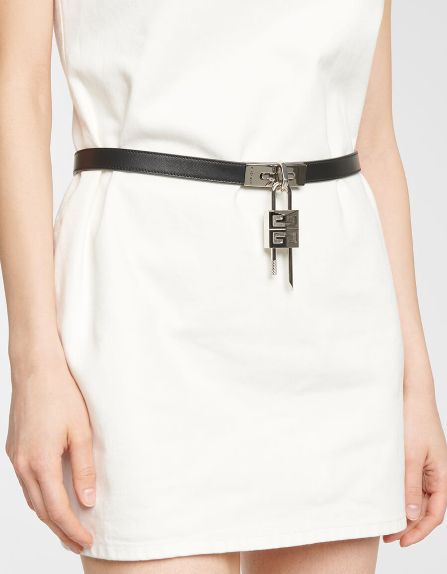 GIVENCHY Turnlock leather belt