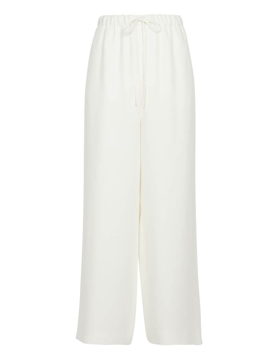 VALENTINO Drawstring silk wide leg pants