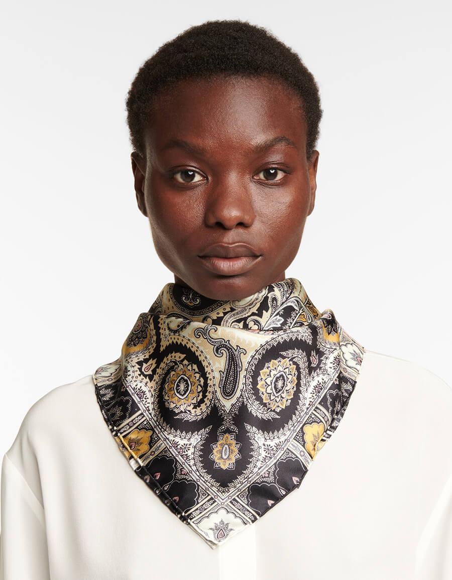 ETRO Paisley silk square scarf