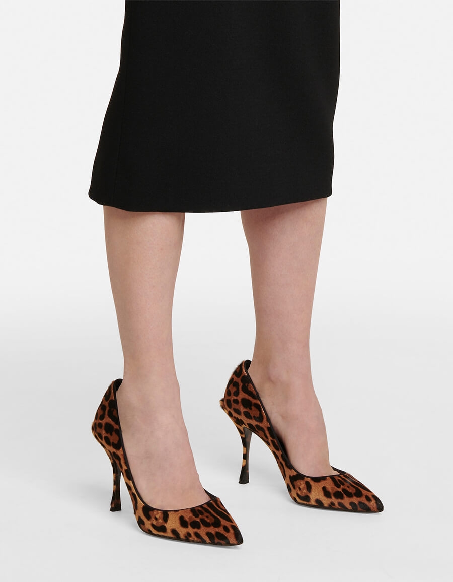 DOLCE & GABBANA Leopard print calf hair pumps