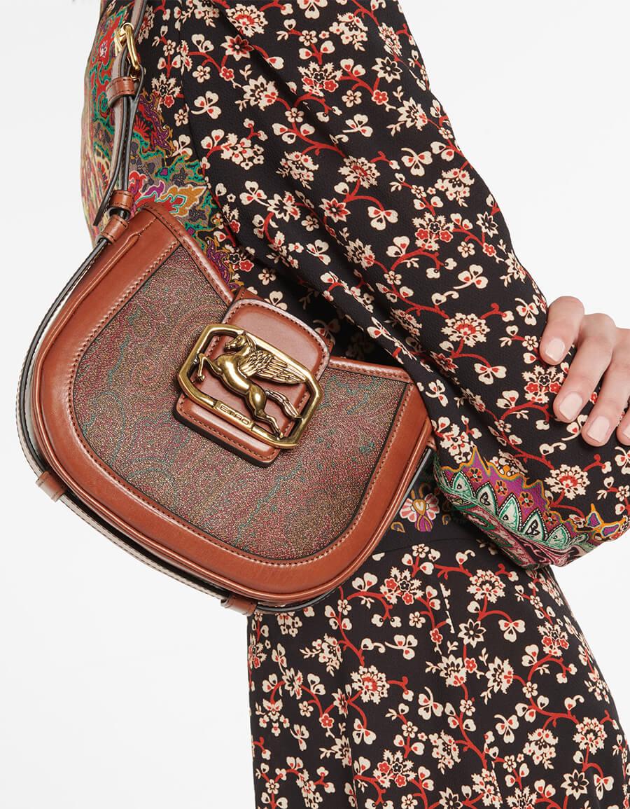 ETRO Pegaso paisley leather shoulder bag