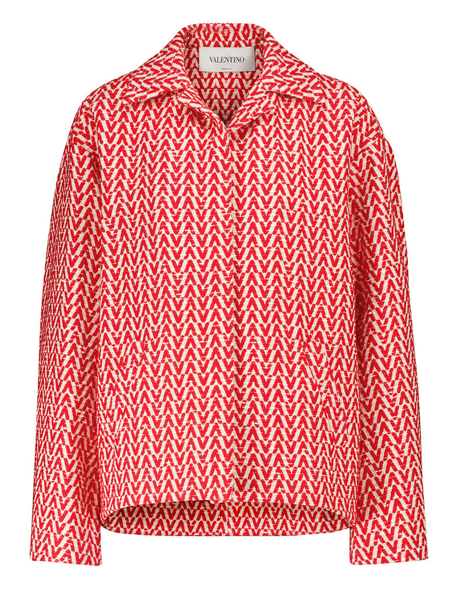 VALENTINO Cotton bouclé jacquard jacket
