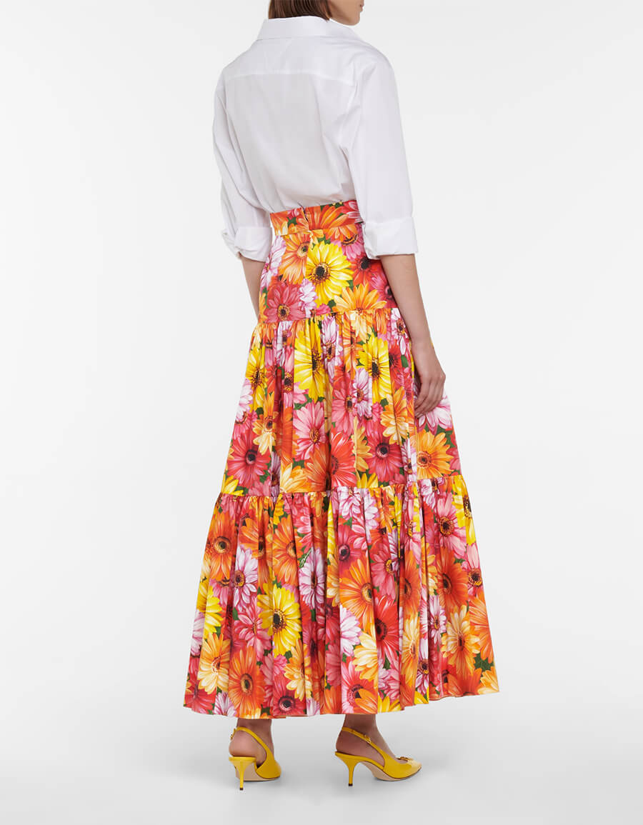 DOLCE & GABBANA Floral cotton maxi skirt