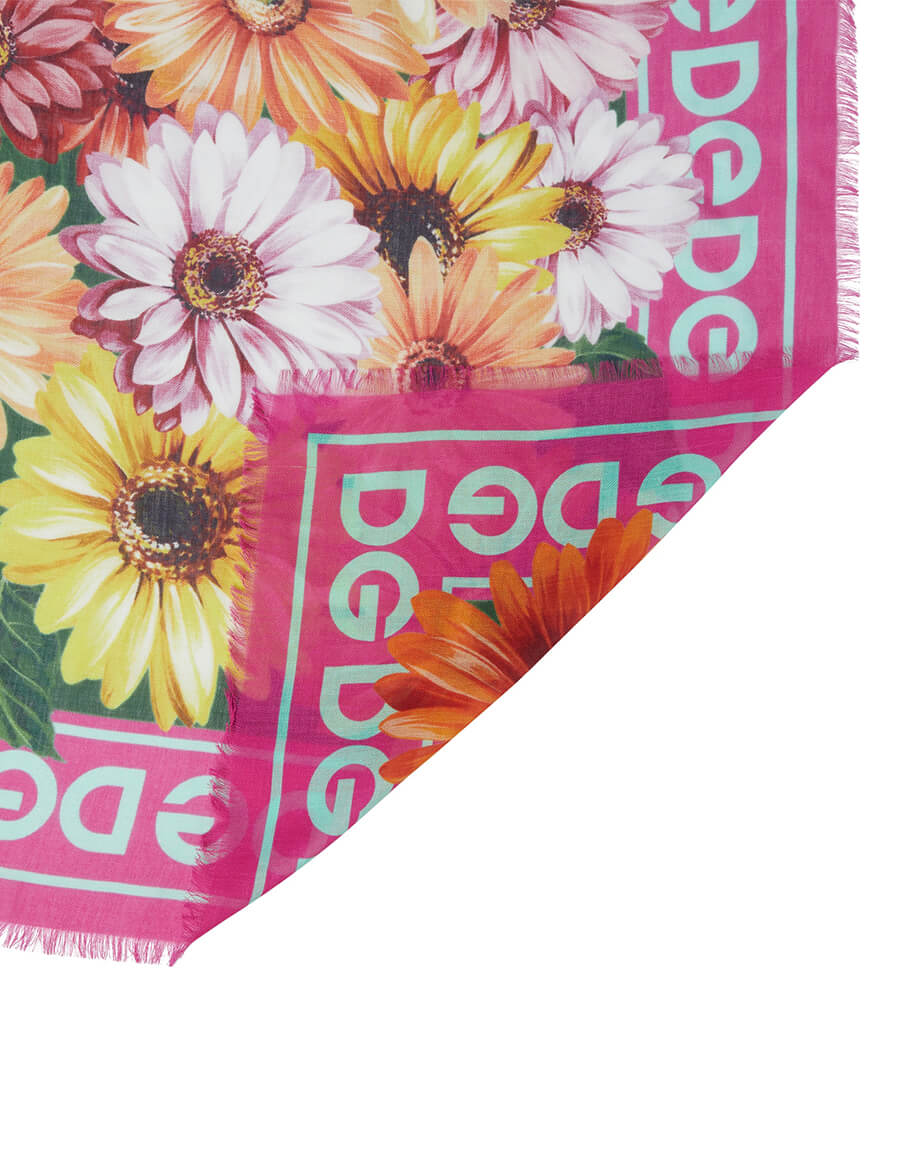 DOLCE & GABBANA Floral modal and cashmere scarf