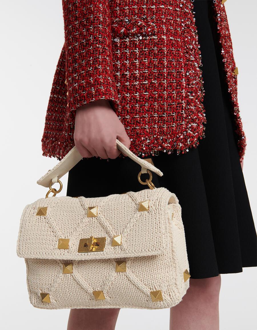 VALENTINO GARAVANI Valentino Garavani Roman Stud crochet shoulder bag