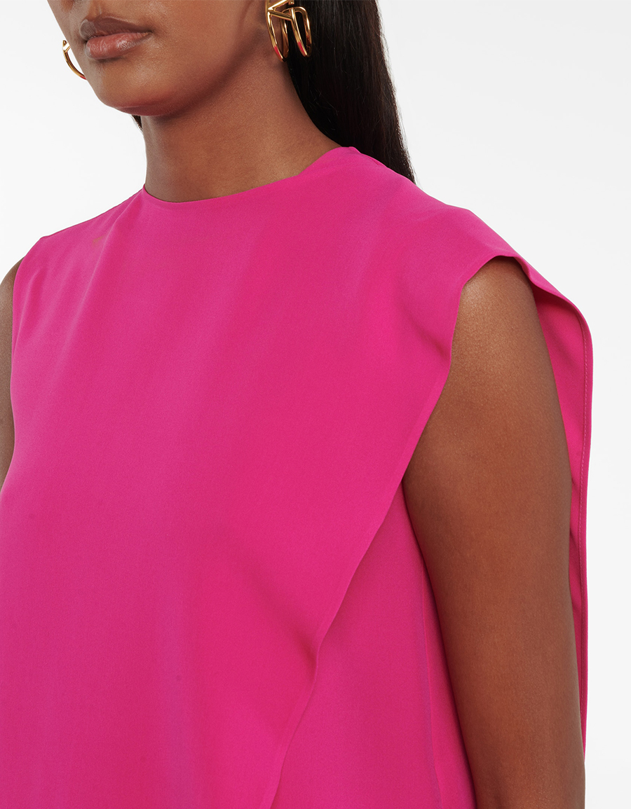 VALENTINO Ruffled Cady Couture top
