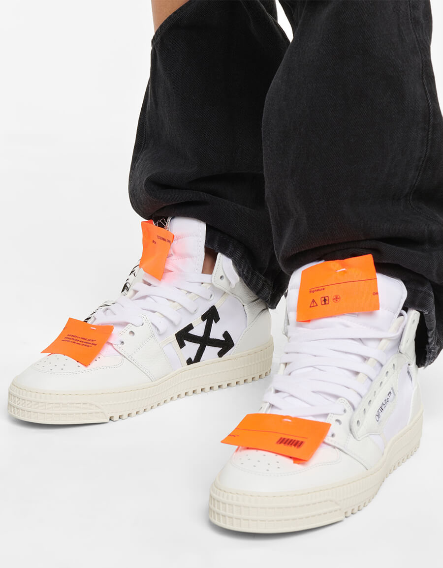 OFF WHITE 3.0 Court leather high top sneakers