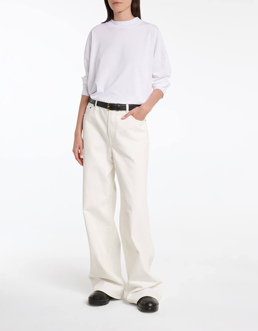 THE ROW Egli high rise wide leg jeans