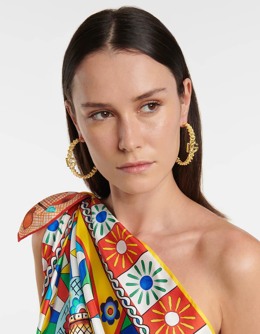DOLCE & GABBANA DG hoop earrings