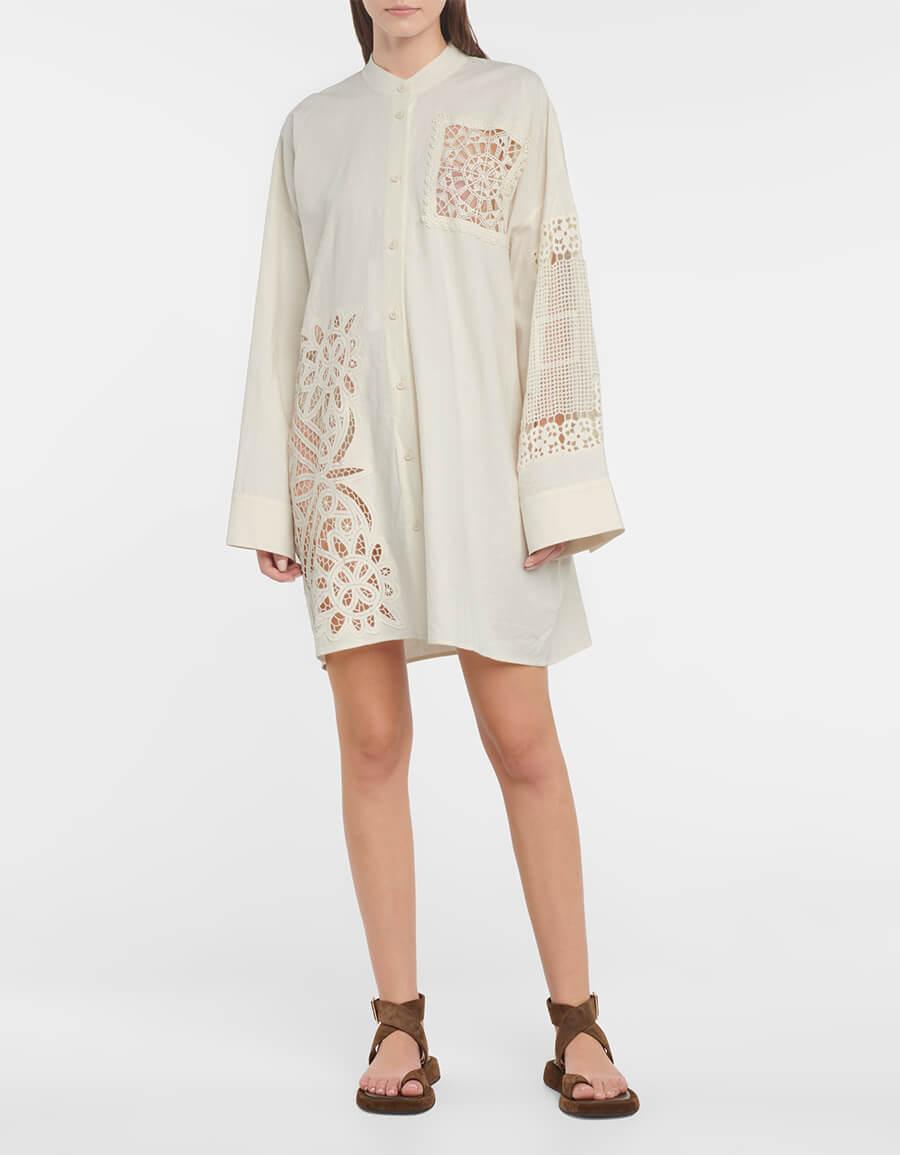 ACNE STUDIOS Crocheted oversized shirt