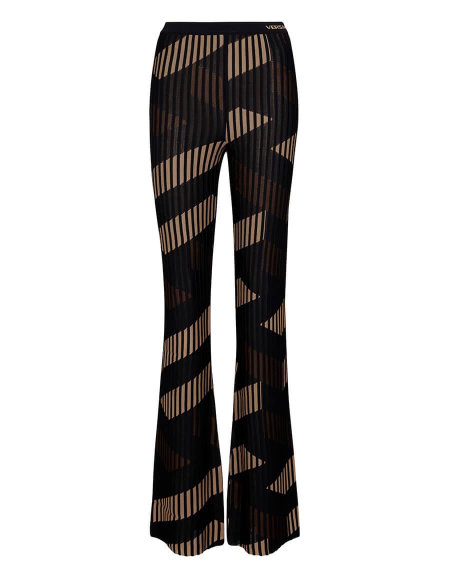 VERSACE La Greca printed jacquard pants