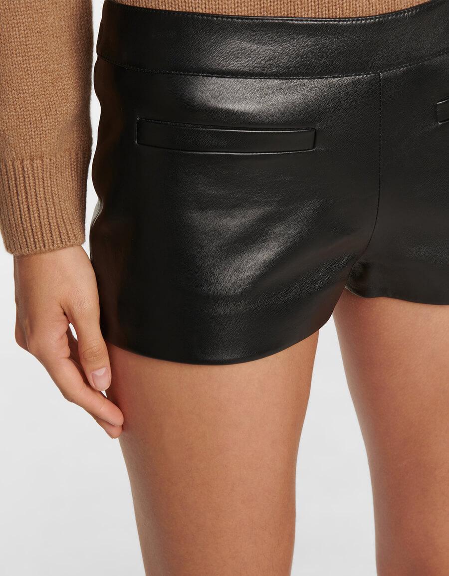 SAINT LAURENT Leather shorts