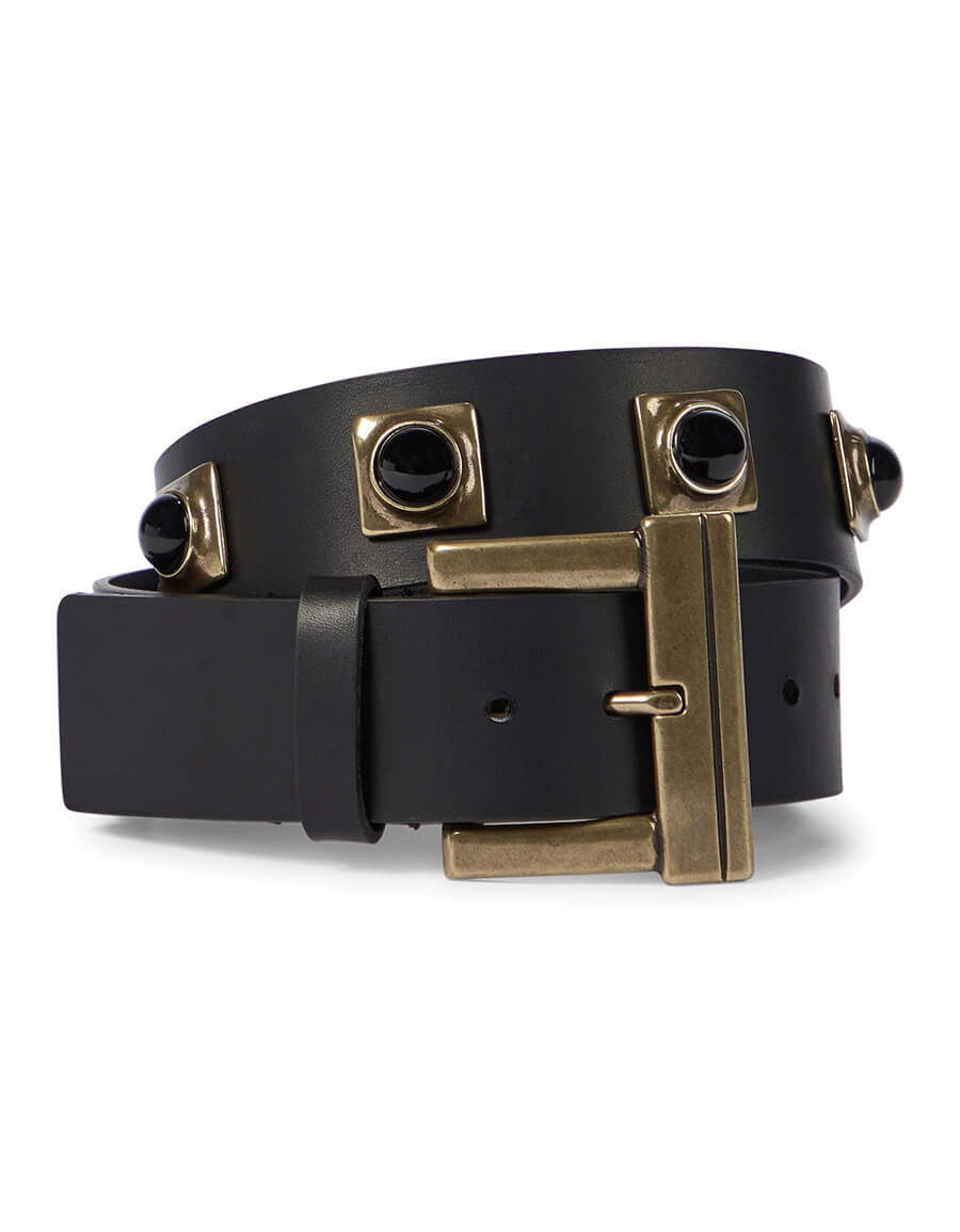 ETRO Studded leather belt