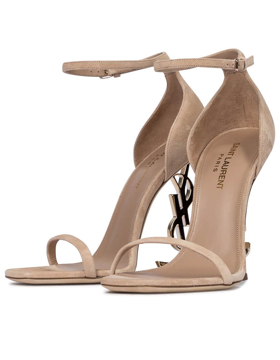 SAINT LAURENT Opyum 110 suede sandals