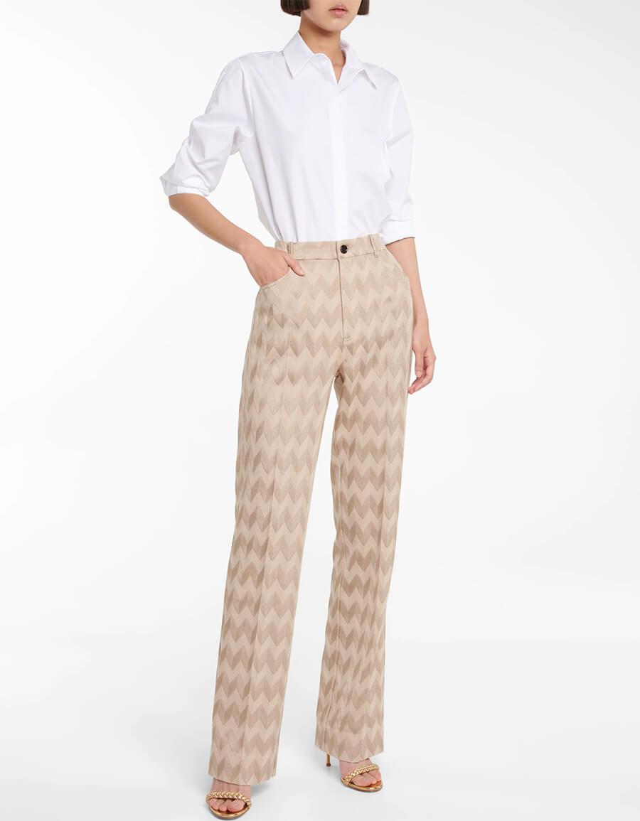 MISSONI High rise straight knit pants