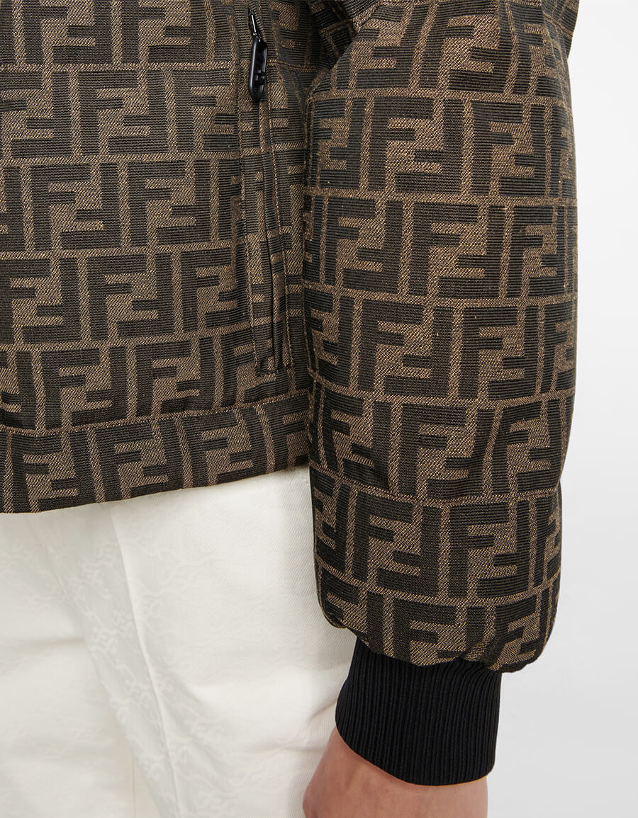 FENDI FF jacquard down jacket