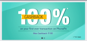 Phonepe App 100% Cashback offer