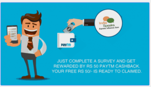 IndiaSpeaks Paytm Offer