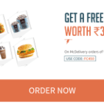 Get Free Meal Worth Rs 325 on McDelivery Order of Rs 450 via Freecharge