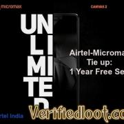 Airtel Micromax Canvas 2 Offer