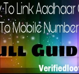 Link Aadhaar Card To Mobile Number
