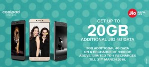 Jio Coolpad Offer: Get 20GB 4G Data For All Coolpad Smartphone Users