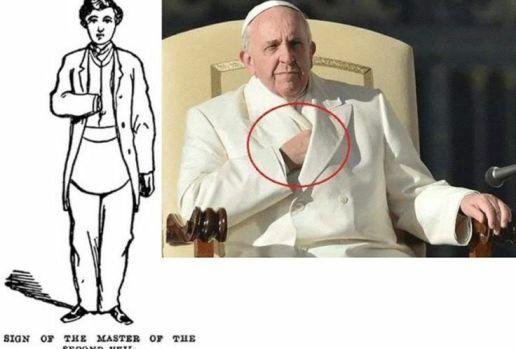 masonic hand signs: pope francis