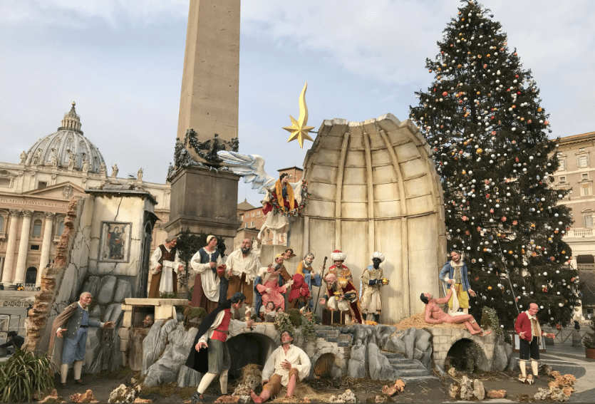 Vatican Nativity: Naked man in Rome display sets off