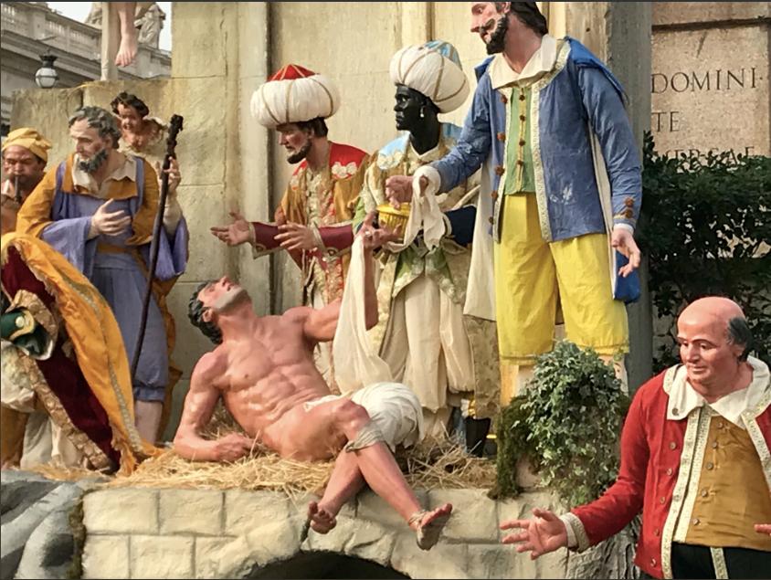Vatican Nativity Scene 2017 - Naked Man