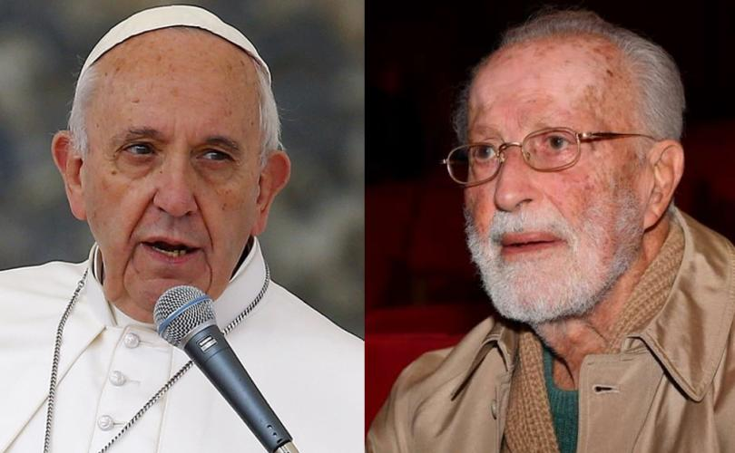 "Eugenio Scalfari claims that Pope Francis told him that Jesus was a ""not at all a God."""