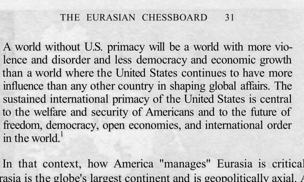 "Read Brzezinski's ""The Grand Chessboard"" here for free"