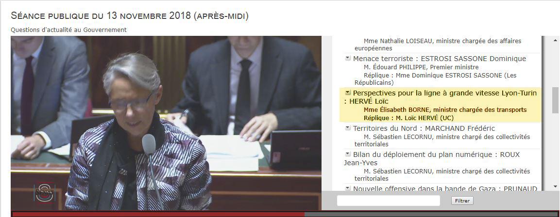 """Il Ministro Elisabeth Borne nel question time al Senato francese: """"Ho detto a Toninelli che le decisioni da prendere dovranno essere coerenti con i vincoli dei nostri impegni internazionali comuni"""""""