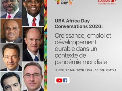 Une affiche de la deuxième édition dénommée (UBA Africa Conversations)