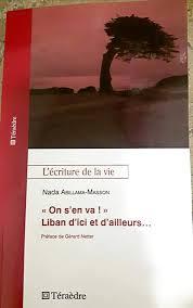 """La couverture du livre de Nada Abillama Masson """"On s'en va !!"""" Liban d'ici et d'ailleurs"""