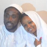 Elie Kamano et Rouguiatou Barry lors de leur mariage religieux