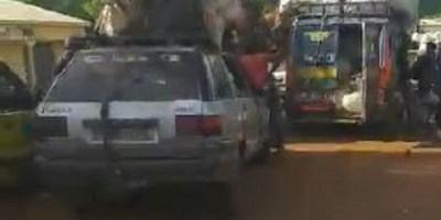 Embouteillage sur la route Coyah-Kindia