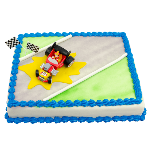 Roadster Racers Mickey Mouse Taart