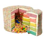 Rainbow Layercake
